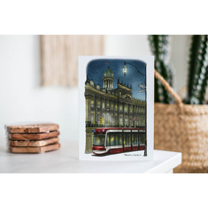 St. Lawrence Town Hall With Streetcar Night Greeting Card
