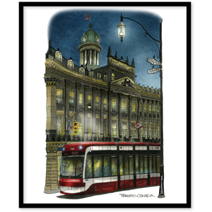 Toronto Streetcar at St. Lawrence Town Hall Canvas Art Print