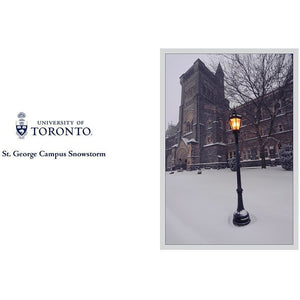 U of T - St George Campus Snowstorm Greeting Card