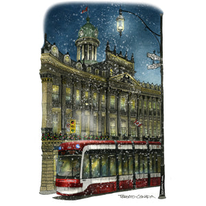 Winter at St. Lawrence Hall Toronto Fridge Magnet