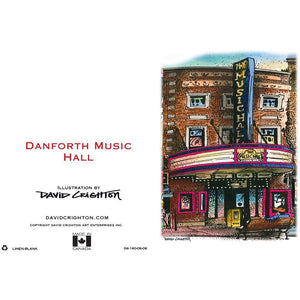 Danforth Music Hall Toronto Greeting Card