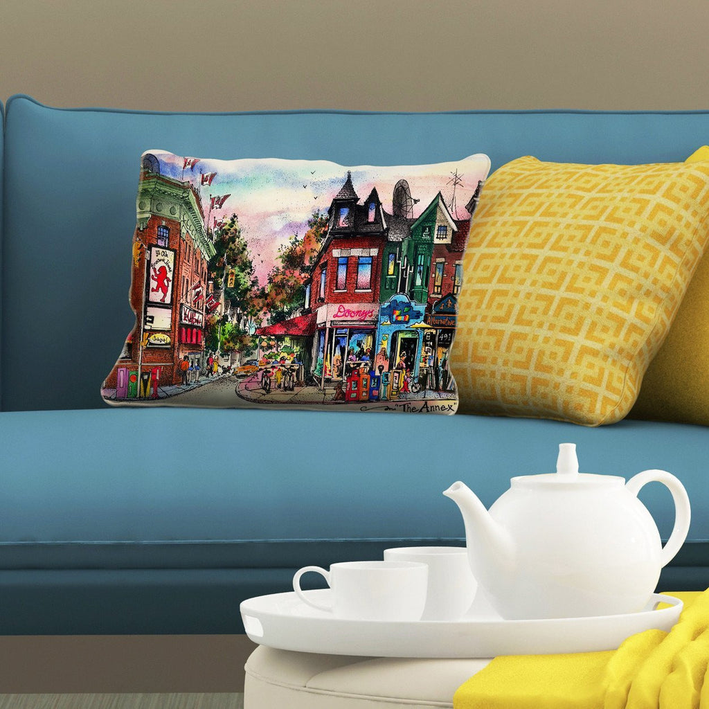 The Annex Neighbourhood Pillows by David Crighton Art