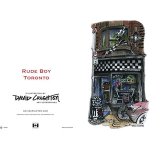 Rude Boy Toronto Greeting Card