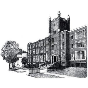 Central Technical and Art School, Toronto by Artist Illustrator David Crighton Art.