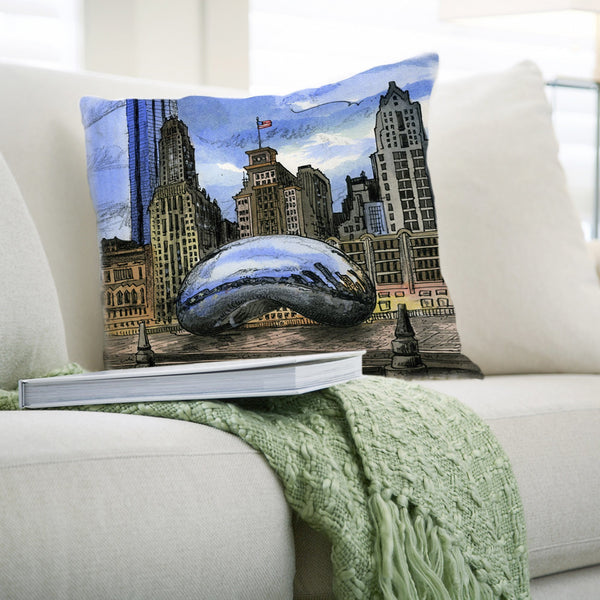 Chicago, USA Pillows by David Crighton