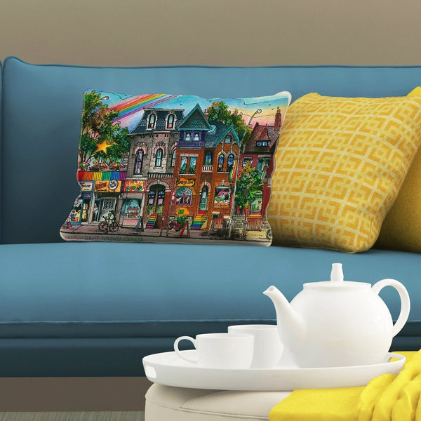 Church Street Neighbourhood Pillows by David Crighton Art