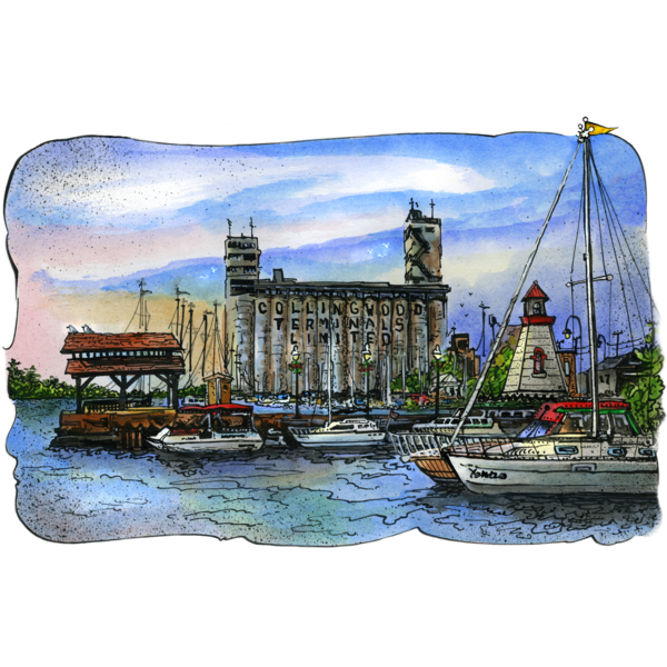 Collingwood Ontario Card by David Crighton