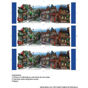 Coronation Street Bookmark by Artist Illustrator David Crighton Art