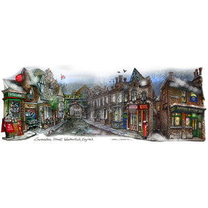 Coronation Street Christmas by Illustrator Artist David Crighton Art