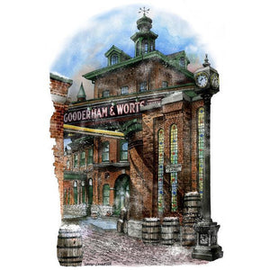 Winter at the Distillery District Toronto Fridge Magnet