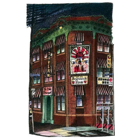 Brunswick House, Toronto, Ontario, Canada by Artist Illustrator David Crighton Art