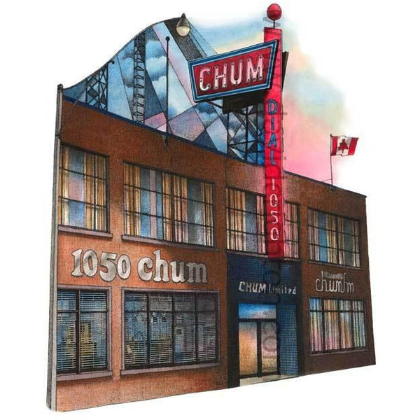 1050 CHUM Radio Toronto Canada by Artist Illustrator David Crighton Art