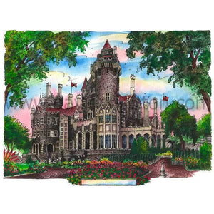 Casa Loma wall art by David Crighton can be purchased as a canvas wall print, giclee print and more.