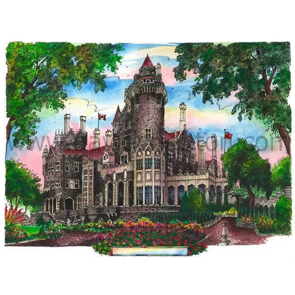 Casa Loma, Toronto, Canada by Artist Illustrator David Crighton Art