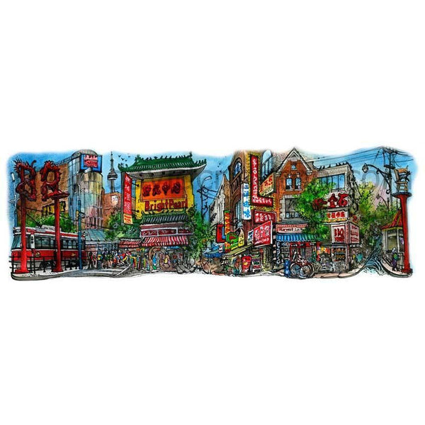 Chinatown, Spadina Avenue, Toronto, Ontario, Canada by Artist Illustrator David Crighton Art