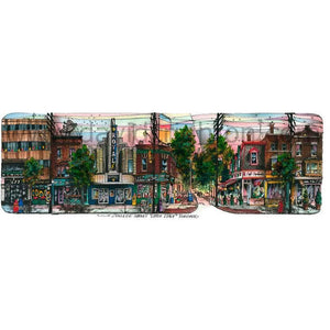College Street, Little Italy, Toronto, Canada by Artist Illustrator Totally Toronto Art