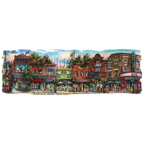 Danforth Avenue #2, Toronto by Artist Illustrator David Crighton Art