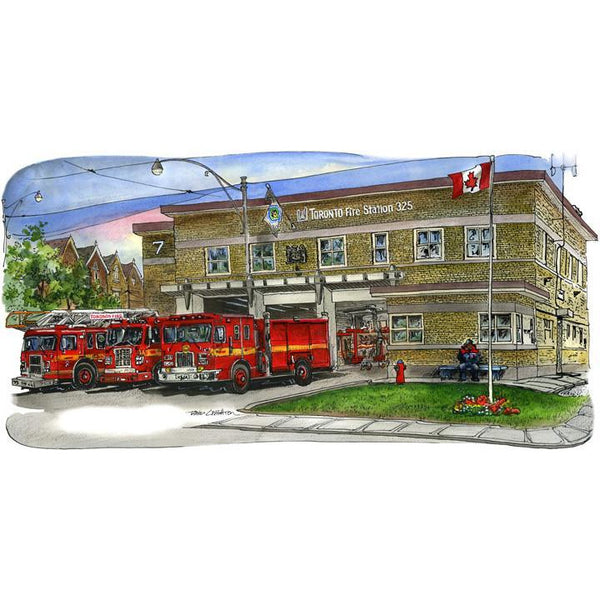 Firehall # 325, Toronto, Canada by Artist Illustrator David Crighton Art