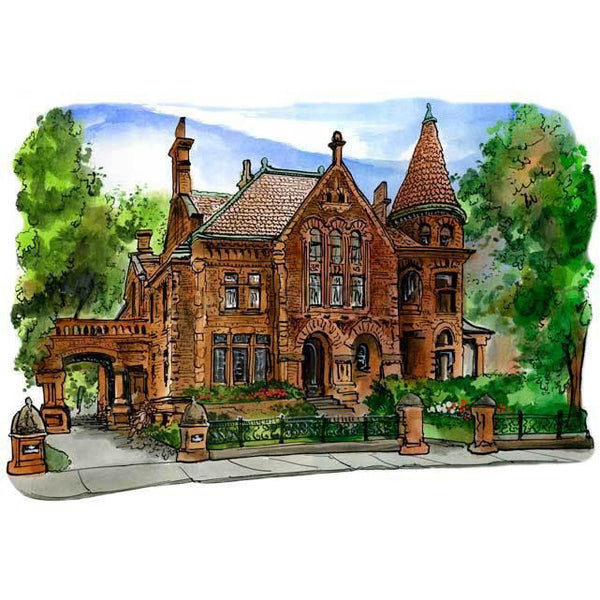 Gooderham House, Toronto, Canada by Artist Illustrator David Crighton Art