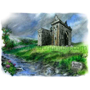 Hermitage Castle, Scotland by Toronto Artist Illustrator David Crighton Art