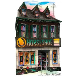 Horseshoe Tavern Art Print by Toronto Artist Illustrator David Crighton Art