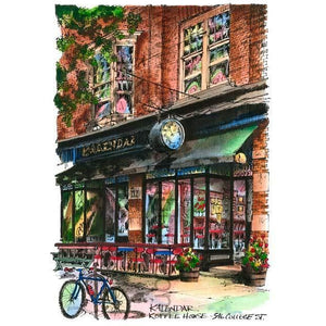 Kalendar Cafe, Toronto, Ontario by Artist Illustrator David Crighton Art