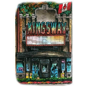 Kingsway Cinema in Toronto, Ontario by artist illustrator David Crighton Art