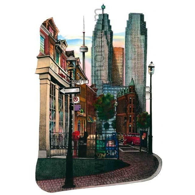 Market Street, Toronto, Canada by Artist Illustrator David Crighton Art