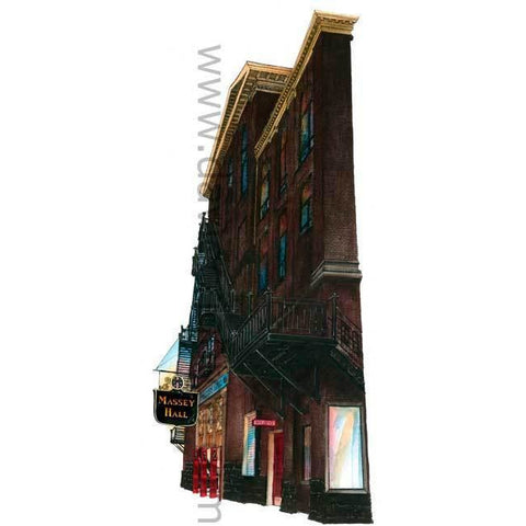 Massey Hall, Toronto, Canada by Artist Illustrator David Crighton Art