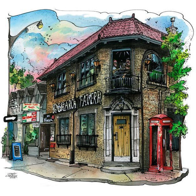 Monarch Tavern, Toronto, Canada by Artist Illustrator David Crighton Art