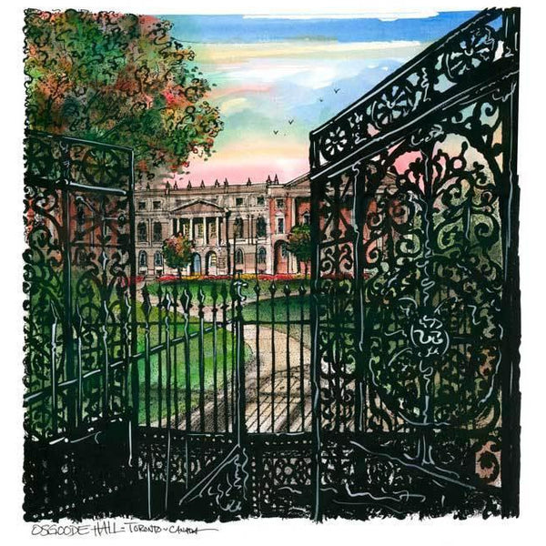 Osgoode Hall, Toronto, Canada by Artist Illustrator David Crighton Art