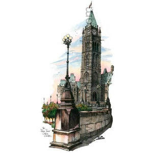 Ottawa - Parliament Buildings, Canada by Artist Illustrator Totally Toronto Art