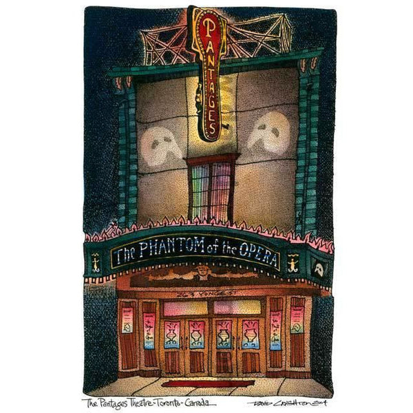 Phantom Pantages, Toronto, Canada by Artist Illustrator David Crighton Art
