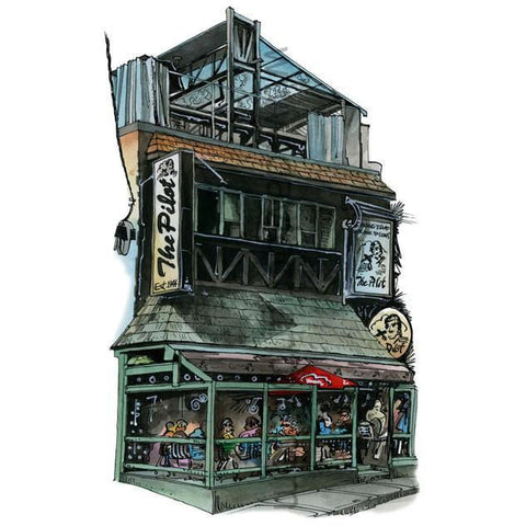 Pilot Tavern, Toronto, Canada by Artist Illustrator David Crighton Art