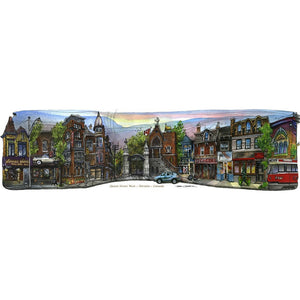 Queen St. West, Toronto, Canada by Artist Illustrator David Crighton Art