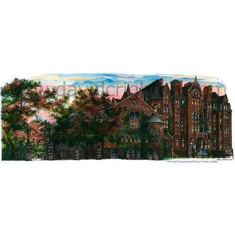 Royal Conservatory Of Music, Toronto, Ontario, Canada by Artist Illustrator David Crighton Art