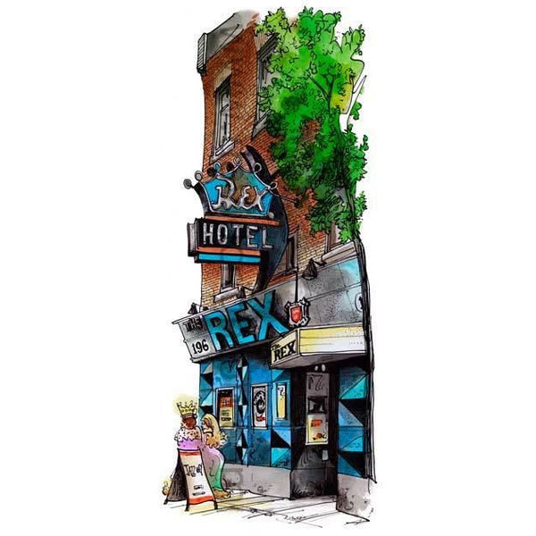 Rex Hotel, Toronto, Ontario by Artist Illustrator David Crighton Art