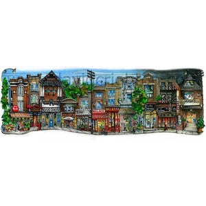Roncesvalles Avenue #2, Toronto, Ontario by Artist Illustrator David Crighton Art