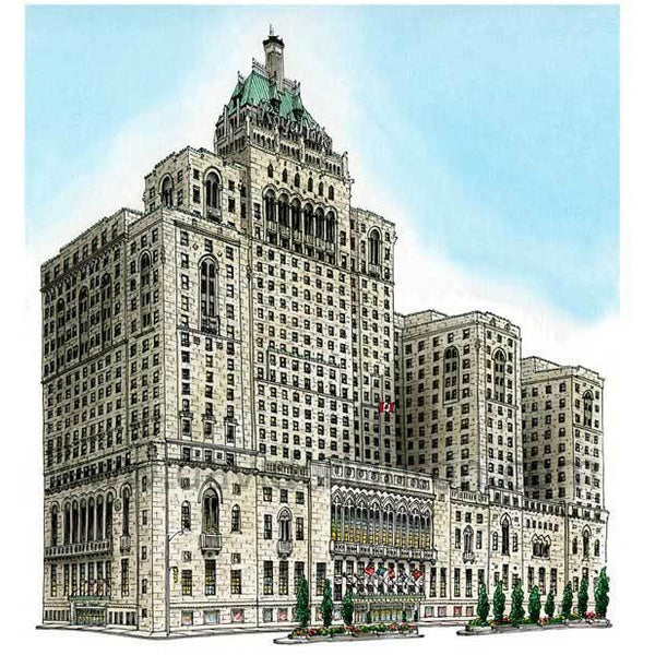 Royal York Hotel, Toronto by Artist Illustrator David Crighton Art.