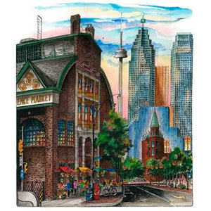 St. Lawrence Market, Toronto, Canada by Artist Illustrator David Crighton Art