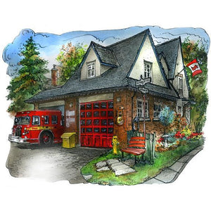 Swansea Fire Station, Toronto Wall Art