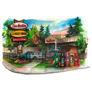 Tim Horton's Coffee Shop Canada Art Print