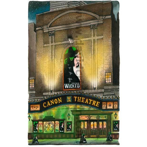 Wicked at The Canon Theatre by Artist Illustrator
