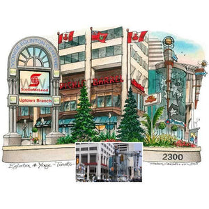 Yonge Eglinton Centre, Toronto by Artist Illustrator David Crighton Art