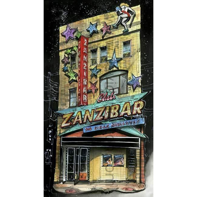 Zanzibar Tavern, Toronto, Ontario by Artist Illustrator David Crighton Art