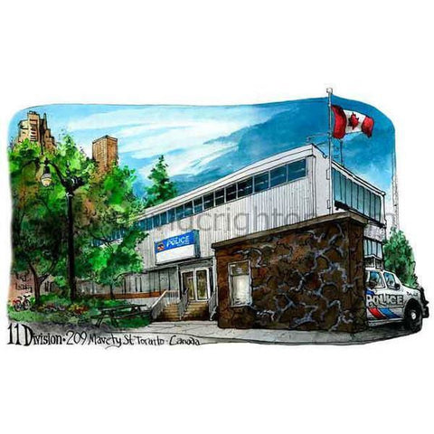 Toronto Police Service, 11 Division By Illustrator David Crighton