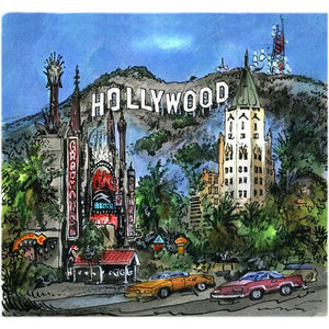 Hollywood, California USA by Artist Illustrator David Crighton Art