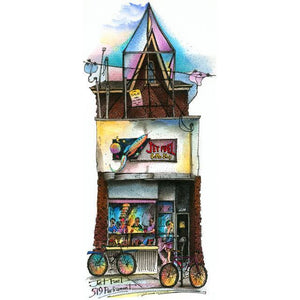 Jet Fuel Coffee Shop, Cabbagetown Art Print by Toronto Artist David Crighton