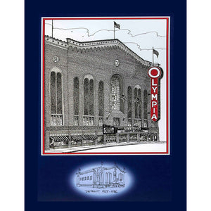 Detroit Olympia (Original Six) Hockey Poster