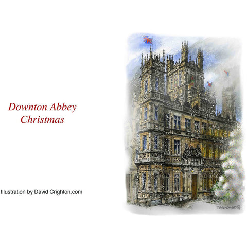 Downton Abbey Christmas Card by David Crighton